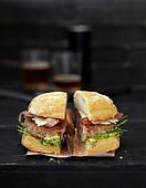 Burger auf italienische Art