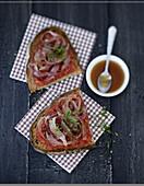 Pancetta and tomato crostini