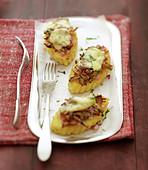 lardons et mozzarella