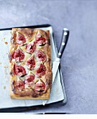 Fig and almond thin tart