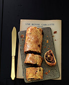 Chocolate and caramelized pear Strudel