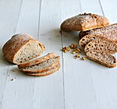 White bread and walnut bread