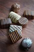 Assortment of chocolate bites