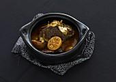 Saddle of lamb and orange casserole