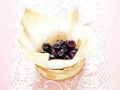 Black grape filo pastry tartlet
