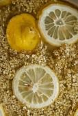 Preparing Elderberry And Lemon Syrup