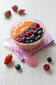 Summer fruit and mango smoothie bowl
