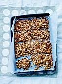 Soya flake, almond, sesame seed and chocolate milk bars