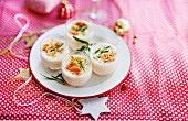Salmon and tarragon panna cotta