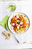 Multicolored mixed salad