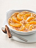 Clementine and cinnamon gratin