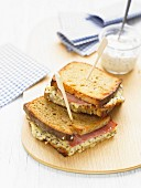 Traditional Croque-monsieur with seedy mustard