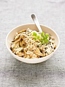 Risotto with mushrooms and Appenzeller