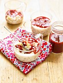 Vanilla rice pudding with summer fruit coulis