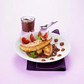 Pan-fried foie gras with fig jam