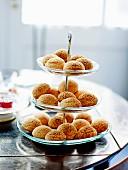 Presentation dish lemon cream puffs