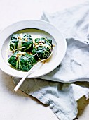 Pork and veal Swiss chard leaf papillotes