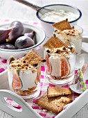 Fromage blanc with figs and rich tea biscuits