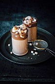 Hot chocolate with hazelnuts, marshmallows and chocolate chips