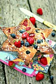 Summer fruit star cake