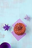Mini Angel Cake mit Schokolade und Zuckermandeln