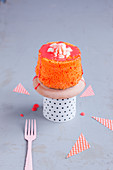Mini Angel Cake with Blood Orange