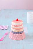 Mini Angel Cake nach Art Hochzeitstorte