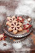 Linzertorte-style raspberry jam biscuits