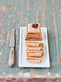 Gingerbread and foie gras terrine