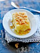 Semolina and Comté cheese cake