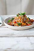 Veggie smelt pasta with vegetables