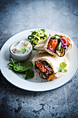 Grilled vegetable pitta