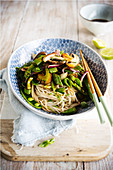 Asian noodles with vegetables sauté