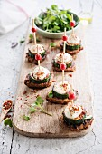 Turkey, grilled courgette and mozzarella bites