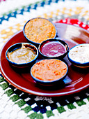 Assortment Of Sweet And Salty Sauces