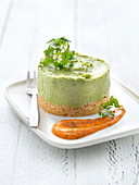 Small Savoury Avocado Cheesecake And Tomato Coulis