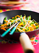 Asian vegetable wok