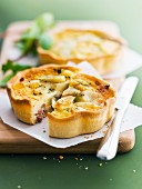 Potato, cheese and herb quiches