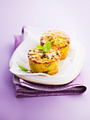 Mini vegetable gratins