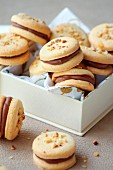 Biscuits with praline ganache filling