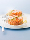 Salmon tartare with chives