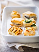 Mini puff pastry appetizers