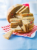 Brown bread fancy sandwiches