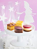 Assortment of mini cheesecakes