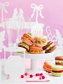 Assortment of ice cream Macarons