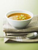 Leek, potato and carrot soup
