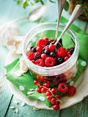 Summer berry fruit salad