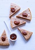 Slices of chestnut cream fondant