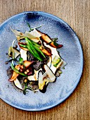Raw and crisp autumn salad