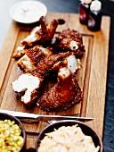 Pieces of Korean fried chicken